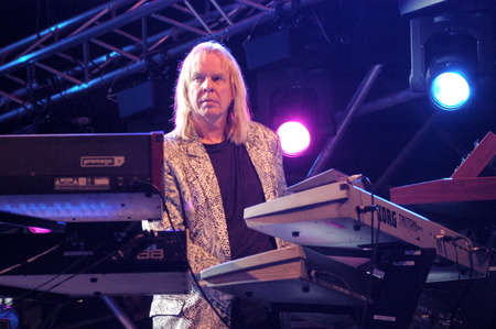 estival: Lugano, Switzerland - 8 July 2004: the keyboard player Rick Wakemann of Yes group during Estival Jazz in Lugano, Switzerland