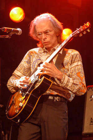 estival: Lugano, Switzerland - 8 July 2004: guitarist Steve Howe of Yes group during Estival Jazz in Lugano, Switzerland