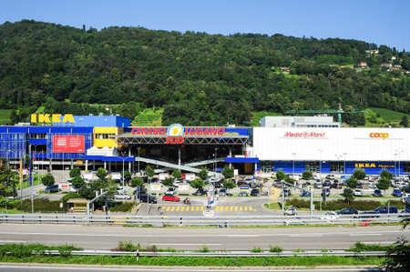 sud: Lugano, Switzerland - 17 July 2014: Centro  Lugano Sud shopping mall on the italian part of Switzerland