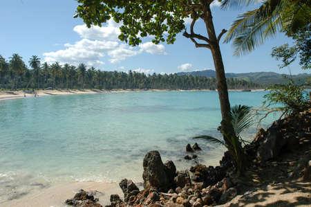 The beach of Rincon near Las Galeras on Dominican Republic Stock Photo