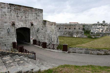 cabana: The entrance door of La Cabana fortress at Havana on Cuba Editorial