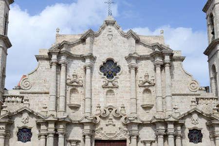 cristobal: Cathedral San Cristobal on Plaza de la Catedral in Havana Stock Photo