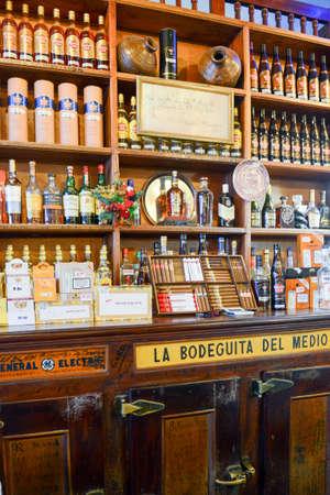 Havana, Cuba - 6 january 2016 - La Bodeguita del Medio restaurant in Old Havana, Cuba Editorial