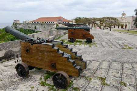 cabana: La Cabana fortress at Havana on Cuba Editorial