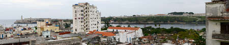 vieja: Panoramic view at the neighborhood of Habana Vieja in Havana on Cuba