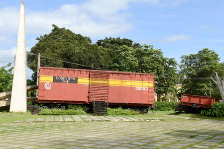 guerrilla: Santa Clara, Cuba - 17 january 2016: Memorial of train packed with government soldiers captured by Che Guevaras forces during the revolution of Cuba