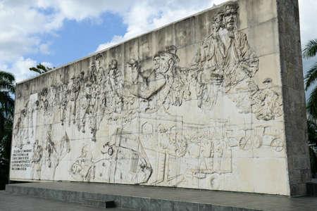 che guevara: Che Guevara mausoleum in Revolution Square at Santa Clara on Cuba Editorial