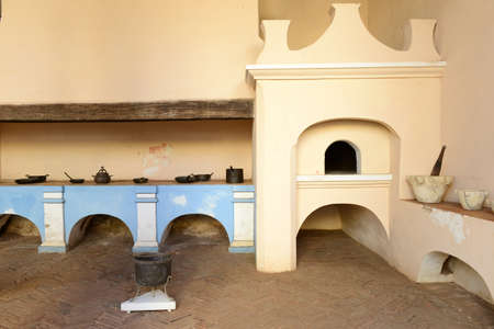 casa colonial: Old kitchen of a colonial house at Trinidad on Cuba Editorial