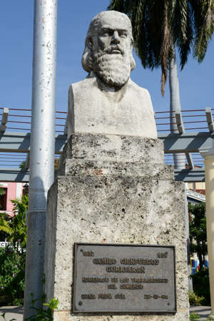 marte: Camillo Cienfuegos monument on Marte square at Santiago de Cuba, Cuba