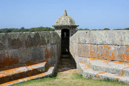 artigas: Historical Santa Teresa Fort on Uruguay. Near the Brazilian border of Chui, the fort was started by the Portuguese & finished by the Spanish, in the context of Uruguay wars spreading along 3 centuries. Stock Photo