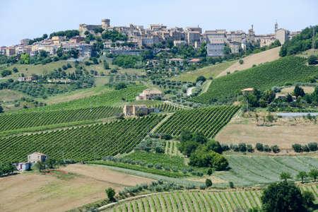 marche: Acquaviva Picena small village on Marche, Italy Stock Photo
