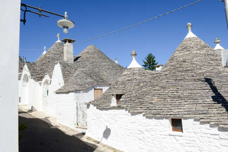 trulli: Beautiful town of Alberobello with trulli houses