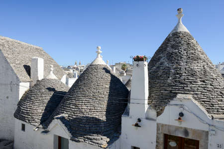 Beautiful town of Alberobello with trulli houses, on Puglia, southern Italy