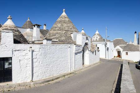 Beautiful town of Alberobello with trulli houses