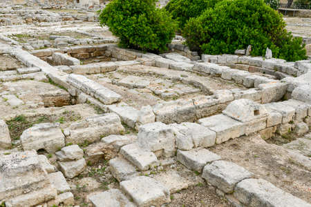 episcopal: The episcopal Basilica of the ancient Roman ruins in Egnazia, Italy