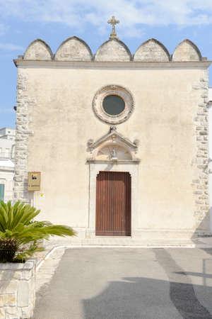 Church of St. Quirico at Cisternino on Puglia, Italy.