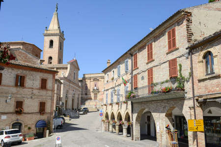 old center: Ripatransone, Italy - 19 June 2016:  the old center of Ripatransone on Marche, Italy