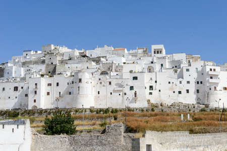 south italy: Ostuni the white town of Puglia on south Italy Stock Photo
