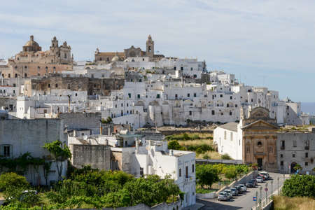 Ostuni the white town of Puglia on south Italy Stock Photo
