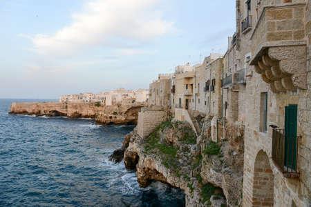 Polignano a mare, scenic small town built on rocks in Puglia, Italy