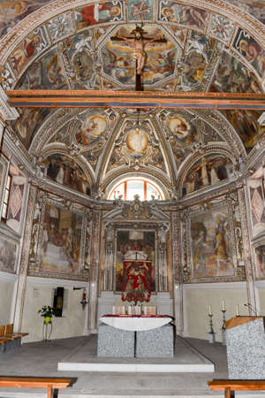 martino: Interior of Saint Martino church at Malvaglia on the Swiss alps