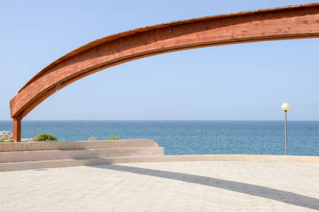 torre: Terrace at the coast of Torre Canne on Puglia, Italy