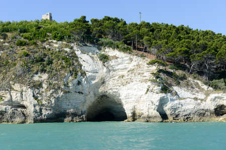 The coast of Gargano National park on Puglia on Italy Stock Photo