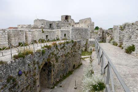monte sant'angelo: Monte SantAngelo, Italy - 28 June 2016: Castle of Monte SantAngelo on Puglia, Italy.