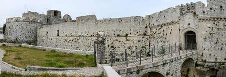 Monte SantAngelo, Italy - 28 June 2016: Castle of Monte SantAngelo on Puglia, Italy.