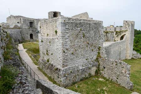 bulwark: Castle of Monte SantAngelo on Puglia, Italy.