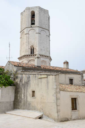 monte sant'angelo: Octagonal tower of Saint Michael Archangel Sanctuary at Monte SantAngelo on Italy