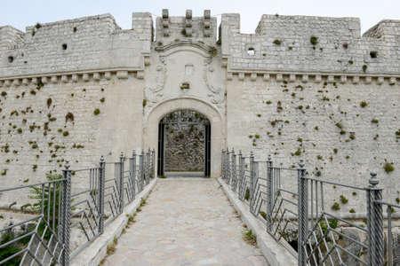 foggia: Castle of Monte SantAngelo on Puglia, Italy.