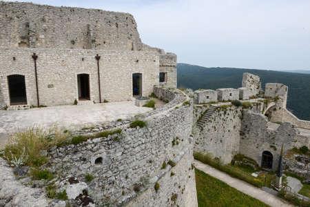 Castle of Monte SantAngelo on Puglia, Italy.