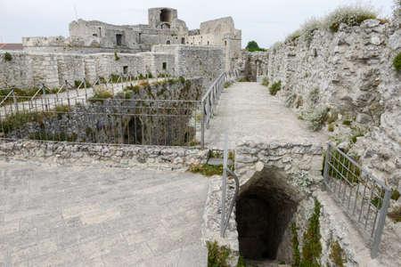 architectural architectonic: Castle of Monte SantAngelo on Puglia, Italy.