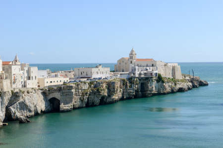 View of Vieste on Puglia, Italy.