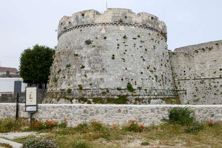 donjon: Castle of Monte SantAngelo on Puglia, Italy.