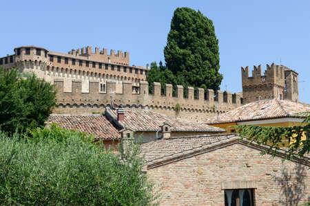 dante alighieri: View of Gradara castle on Marche, Italy. Editorial