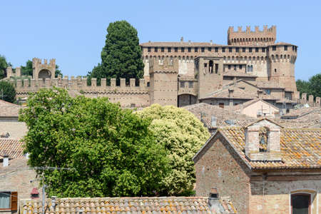 marche: View of Gradara castle on Marche, Italy. Editorial