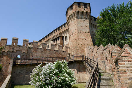 View of Gradara castle on Marche, Italy. Editorial
