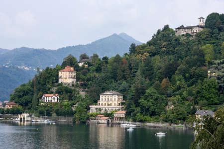 orta: Sacred Mount Orta on Piedmont on Italy Stock Photo