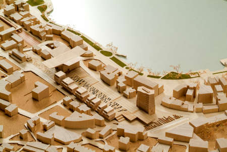 architectural studies: Site surrounding model for architectural presentation and background