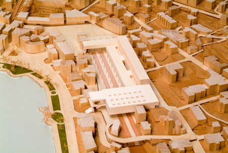 surrounding: Site surrounding model for architectural presentation and background