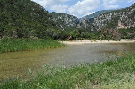 LUNA: Cala Luna beach in Orosei bay on Sardinia, Italy Stock Photo