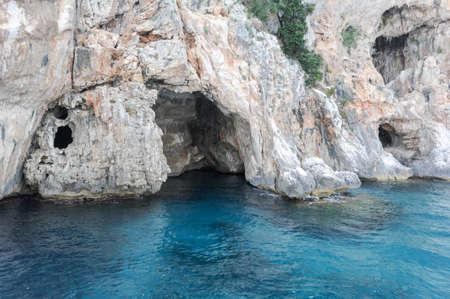 The cave of Cormorani on the island of Sardinia, Italy Stock Photo