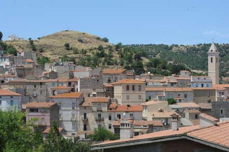 The village of Bitti on the island of Sardinia, Italy