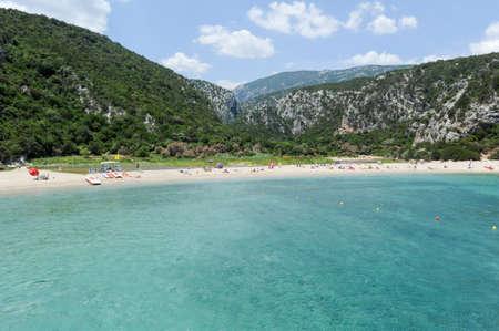 LUNA: Cala Luna beach in Orosei bay on Sardinia, Italy.