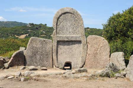 giants: Tomb of giants of Sena and Thomes on Sardinia island, Italy