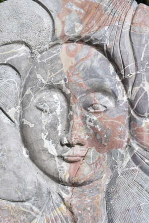 head for: Artistic stone marble head for background