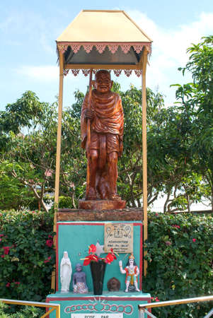 Statue of Mahatma Gandhi at Saint Denis  on La Reunion island, France Stock Photo