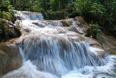 Aqua Azul waterfall on Chiapas, Mexico